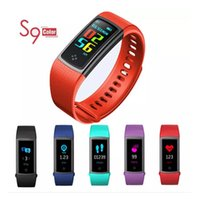 Color Screen S9 Smart Bracelet Bluetooth Band Heart Rate Blo...
