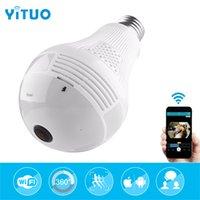 YITUO 2MP Kablosuz IP Kamera Ampul Işık FishEye 360 Derece 3D VR Mini Panoramik Ev CCTV Güvenlik Ampul Kamera IP