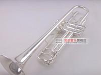 Yeni Bach LT180S-90 Profesyonel Trompet Bb Tipi Trompeta Pirinç Aletleri Gümüş Kaplama Nefis El B Düz Trombeta Oyma