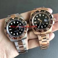 Luxo Top Quality BP Factory 40mm GMT 126715 126711 126711Chnr 126711Chnr 126711Chnr ceramic suíço ETA 2836 movimento relógios automáticos de relógios