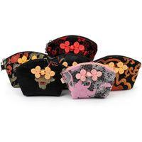 11x8x8.5 cm estilo chino mujeres monedero pequeño bolso de la moneda bolsa de raso bolsas de embalaje de seda colores mezclados envío gratis