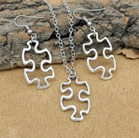 Trendy Popular Jewelry Sets Autism Awareness Jigsaw Puzzle N...