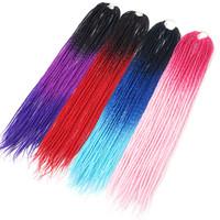핑크 유니콘 ombre 색상 스프링 컬 Pre-Twisted 세네갈 크로 셰 뜨개질 머리카락 머리 22inch 합성 머리 확장 합성 머리를 땋는