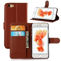 For iPhone 6 6S Plus Litchi Leather Flip Case+ TPU Back Cover...