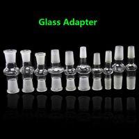 10 نماذج الزجاج بونغ محول ذكر لأنثى المشتركة 14 / 18mm وأنثى إلى ذكر محول زجاج محول المشتركة للزجاج الماء بونغ