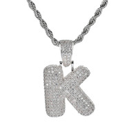 Silver 26 Letters for Choice Bubble Letter Pendant Necklace ...
