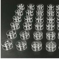 50 sztuk plastikowe puste szpule szpulki szpulki okrągłe końcówki sznurka wstążka do szycia String biały do gwintów string ręczne narzędzia rzemiosła