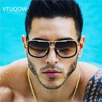 2019 New High Quality Square Sunglasses Men Pilot Vintage Re...