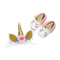 0- 12M INS Newborn Baby Set PU Leather Moccasins Elastic Low-...
