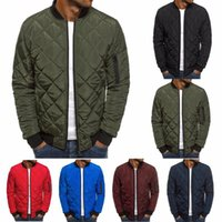 ZOGAA Men Autumn Casual Plaid Parkas Jacket Wind Breaker Sol...