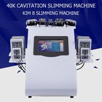En popüler Yüksek Kalite 40 k Ultrasonik liposuction Kavitasyon 8 Pedleri DDLT lipo Lazer Zayıflama Makinesi Vakum RF Cilt Bakımı Salon Spa Kullanımı Eq