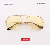 top quality Vintage pilot Metal Evolve Style Sunglasses gold...