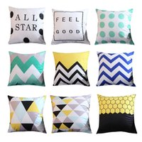 Geometric Throw Pillow Covers Velvet Square Cushion Cover Ou...