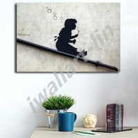 Banksy Bubble Girl Street Graffiti Posters HD Canvas Paintin...