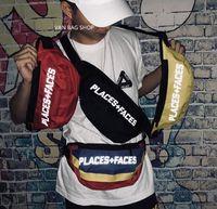 18SS YERLER + YÜZLER hayat sokak çift kaykay çanta göğüs çanta P + F 3 M hip hop omuz Messenger çanta bel çantası gelgit erkekler tuval çanta