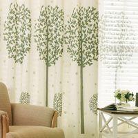 Verde Curtain piano personalizzato per il cotone e lino finestra del soffitto finito semplice e moderno soggiorno studio ombreggiatura ombreggiatura camera da letto cinese