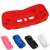 5 Renkler Yumuşak Kauçuk Silikon Silikon Koruyucu Kılıf Kabuk Wii U Gamepad Koruyucu Cilt Kapak için DHL FEDEX EMS ÜCRETSIZ KARGO