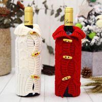 Novedad tejer suéter tapa de la botella de vino lindo suave botellas escudo para fiesta de navidad decoraciones suministros directo de fábrica 6 5df BB