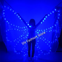 PF006 Colorful LED luminous cloak  light- up costume Ballroom...