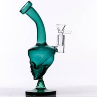 "8"" Mini Glass Bong DARK GREEN Glass Dab Rig mystic oil ..."