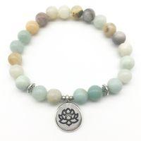 SN1228 New 2018 Bracelet pour femmes à la mode Amazonite Naturel Yoga Bracelet Balance de haute qualité Bracelet Meilleur cadeau pour elle