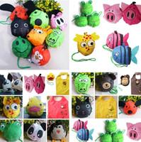16 estilos nuevo lindo útil doble bolsas Animal abeja Panda cerdo perro conejo plegable Eco reutilizable bolsas de compras bolsas de almacenamiento I179