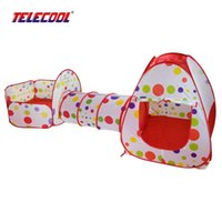 Оптом-TELECOOL Play Tent Kid Ocean Ball Pit Upgrade 3pc Pop-up ChildrenTunnel Pool-Tube-Teepee для детей Рождественский подарок