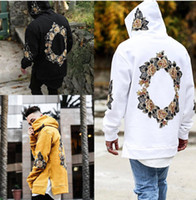 New High Street Mens Sweatshirts Floral Print Hip Hop Hoodie...