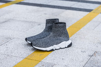 Speed Runner Casual Shoes Man Woman High top Knit Men' s...