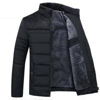 رجالي الشتاء سترة جديد زائد الكشمير بلوسون أوم الذكور الوقوف طوق معطف الأعمال الدفء سميكة لصق الملابس القطن