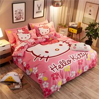 7 Style Cartoon Hello Kitty Home Textiles KT Cat Print Beddi...