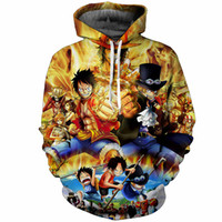 Cloudstyle 3D Hoodies Sweat-shirts Anime One Piece Luffy Imprimer Hommes Vêtements 2018 Pulls Harajuku Tops Streetwear Plus La Taille 5XL