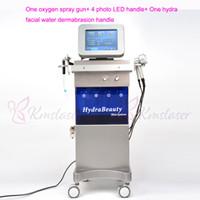 7 в 1 США популярная система спа кожи машина воды кислорода Spa16 Hydra лицевой пистолет-распылитель кислорода hydro dermabrasion led light therapy machine
