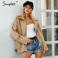 Simplee Elegant faux fur coat women 2018 Autumn winter warm ...