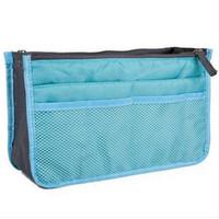 الأزياء السفر إدراج منظم حقيبة يد محفظة كبيرة ماكياج اينر المرأة حقائب المنظم حقيبة التخزين الرئيسية منظمة التخزين