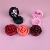 0.5-0.7g Forma del fiore di rosa Contenitori cosmetici Eye Shadow Cream Rossetto Nail Art Contenitore contenitore Cassa del vaso Bottiglie con pentola in alluminio