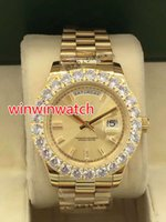 New 43MM big diamond automatic men' s watches TOP qualit...