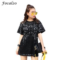 Focal20 Streetwear Starry Sky Print Dreamlike Women T- shirt ...