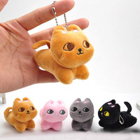 Cute- Cat- Soft- Stuffed- Plush- Toy- Keychain- Keyring- Fob- Cushion...