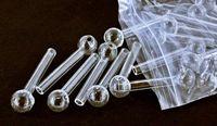 pipe en verre 12cm et 10cm en verre clair verre brûleur à mazout tube en verre fumer pipes huile ongles somking pipes pipes conduites d'eau