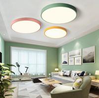 5CM Ultra ince Tavan Işık Macaron Renk Yuvarlak Akrilik Led Tavan Lambası Armatür