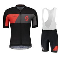 fb77deeb6 Wholesale black gold cycling jerseys for sale - Pro Team Scott Cycling  Jersey Bike Wear Summer