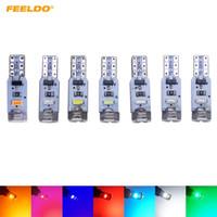 Feeldo 10st Car T5 5LED 3014 SMD Auto Wedge Light Lampa Varning Canbus Nej Fel Bil LED Light 7-Färg # 4024