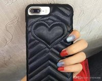 Heart Leather Luxury brand phone case for iPhone X 8 7 7plus...