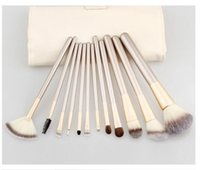 Makeup Brush Set 12pcs Pro Makeup Brushes Sets With PU Bag F...