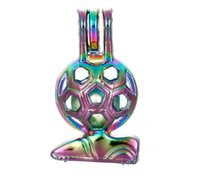 Sport Calcio Calcio Scarpe Arcobaleno Colore Perline Gabbia Creazione di gioielli Olio Essenziale Diffusore Perla Ciondolo Locket Ciondolo 5pcs C140