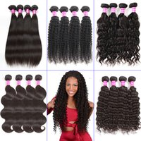 Brazilian Virgin Straight Human Hair Weave Body Water Deep W...