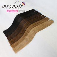 Tape In Human Hair Extensions 20pcs Indian Remy Hair Extensi...