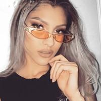 العلامة التجارية مصمم البيضاوي نظارات المرأة خمر 90 ثانية القط العين النظارات إطار صغير السيدات نظارات الشمس oculos دي سول