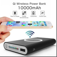 10000mah QI Wireless Charging Power Bank for iPhone Samsung ...